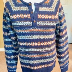 Men's Lucky Brand Wool Pull Over Sweater Sz L